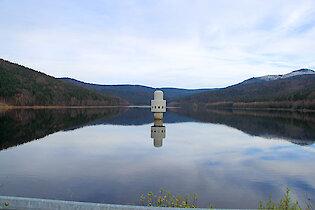 Trinkwassertalsperre in Frauenau im Bayerischen Wald